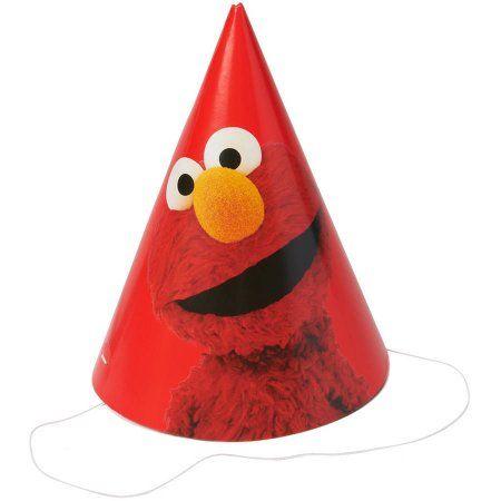 Elmo Party Hats/Masks, 8 Count, Party Supplies - Walmart.com
