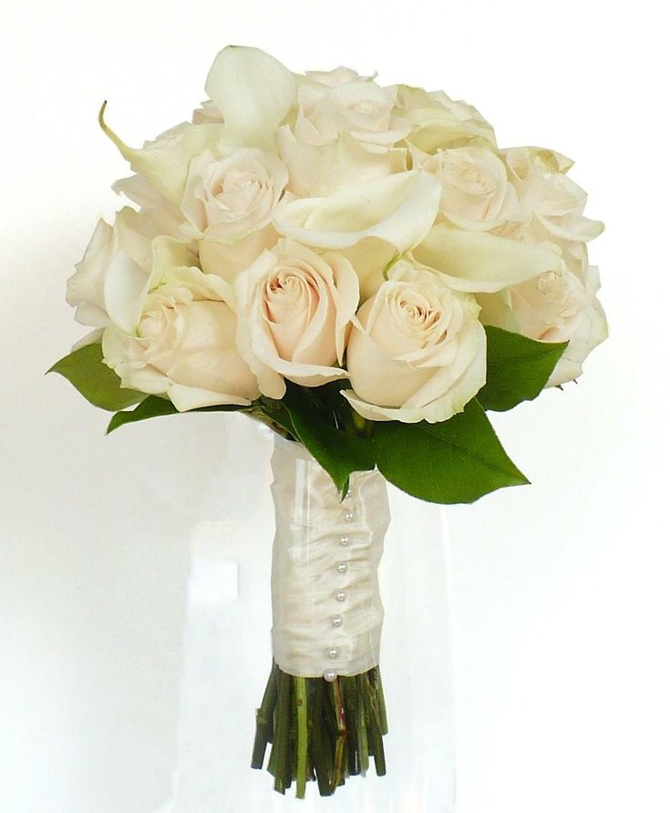 PC WHITE CALLA LILIES WEDDING BOUQUET BRIDAL FLOWERS ( choose color Ribbon ) Read on to know more about calla lily wedding flowers. Description from flowwedding.com. I searched for this on bing.com/images