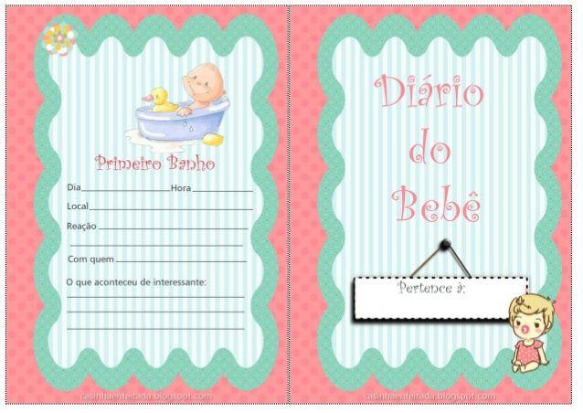 Agenda do Bebe para imprimir by Criatividade Ativa via slideshare