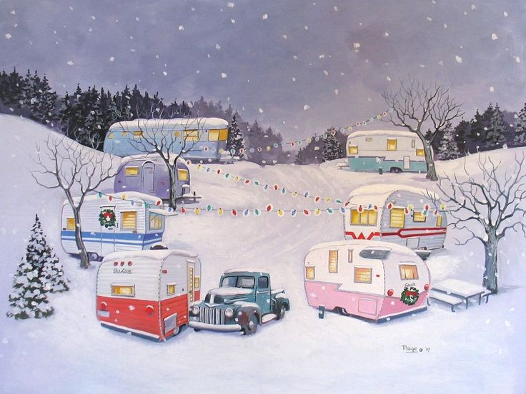 Vintage Travel Trailer Airstream Spartan Terry Nomad RV CHRISTMAS NOTE CARDS