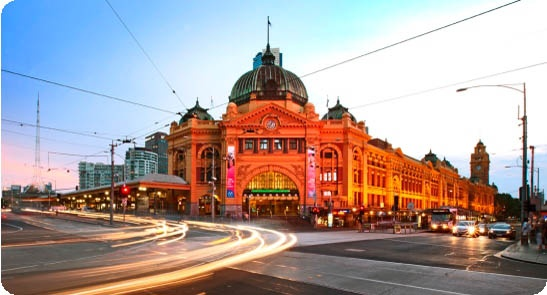 Flinders Street Station by day.