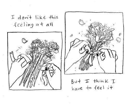 a small comic about tying up/tying together loose ends
