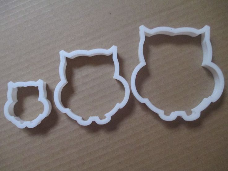 Owl cookie cutter dough pastry biscuit fondant bird animal wise PICK SIZE OR SET  | eBay