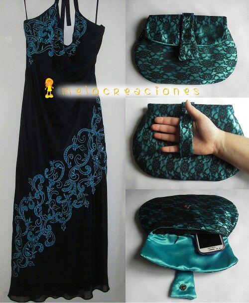 Bolso tipo clutch a juego con el vestido