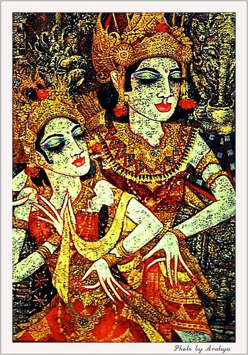 Bali Dance in Painting by Araleya, via Flickr