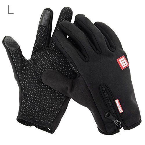 HAWEEL Cycling Gloves, Waterproof Touchscreen in Winter Outdoor Bike Gloves Adjustable Size, Black. #HAWEEL #Cycling #Gloves, #Waterproof #Touchscreen #Winter #Outdoor #Bike #Gloves #Adjustable #Size, #Black