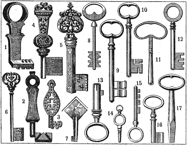 old keys sketch