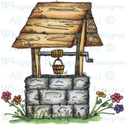 Wishing Well Item Number MY854 H I P P E R SNAPPER DESIGNS Stamp Wishing Well