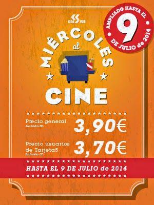 ¡No faltes al #cine! Como todos los miércoles, aprovéchate de nuestra #oferta y no te pierdas los últimos estrenos de cartelera al mejor precio. Todo esto en El Ingenio, uno más de la familia.