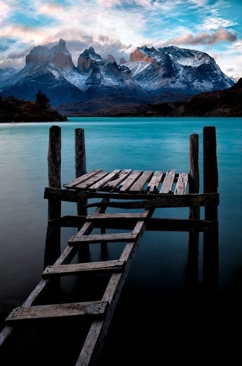 Boat Dock, Lake Pehoé, Chile