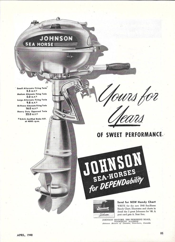 Dating johnson outboard motors