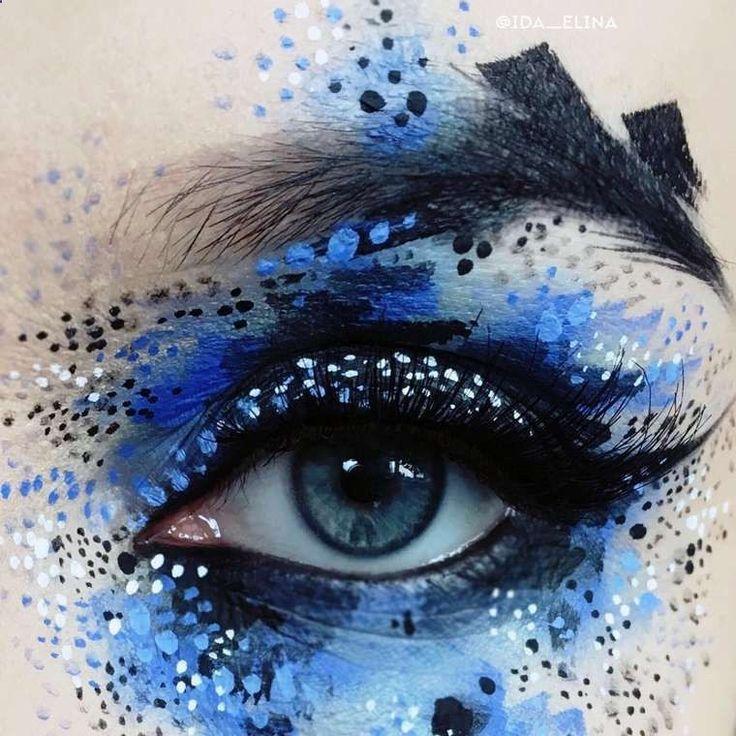 Eye Makeup - Une sélection desmaquillages créatifs de lartiste et maquilleuse professionnelle finlandaise Ida Ekman, basée à Londres, qui imagine ses créations comme - Ten (10) Different Ways of Eye Makeup