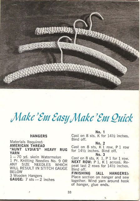 Free Pattern Crochet Cover for Wooden Hangers