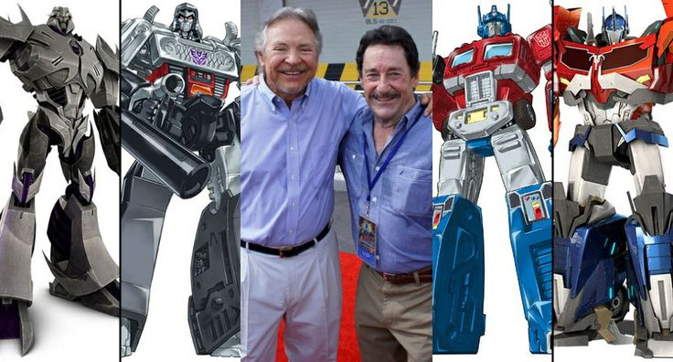 Frank Welker (Megatron) and Peter Cullen (Optimus Prime) :) this photo makes me so happy
