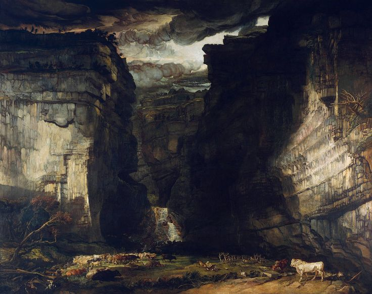 James Ward - Gordale Scar (A View of Gordale, in the Manor of East Malham in…