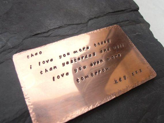 7th wedding anniversary gift copper or aluminum keepsake on Etsy, $33.30
