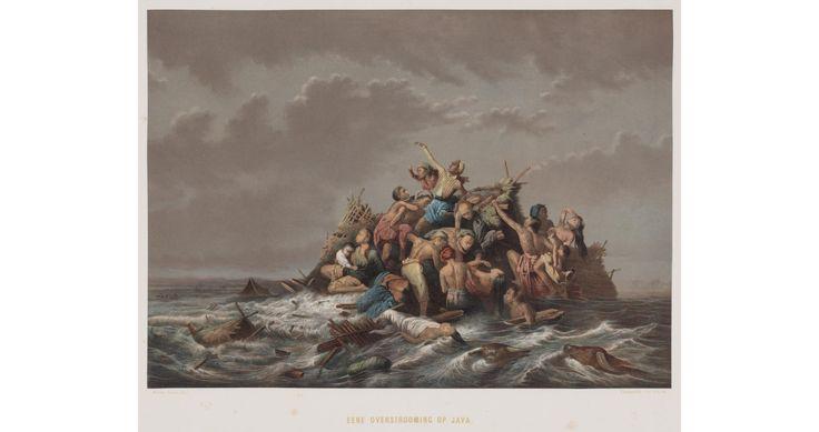 """ A flood of Java"" by Raden Saleh, Indonesia"