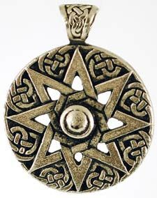 Star of Ur Amulet  Dating back to 2000 BC, the eight-pointed star was discovered as a seal within the ruins of the ancient city of Ur. There it was the symbol of the Goddess Inanna, the Sumerian queen of the heavens, and later the symbol of Ishtar, who was revered in Babylon as the Light Bringer - with the eight pointed star, enclosed in a circle being the symbol of the sun god. As such it offers us a powerful, ancient connection to the Goddess and the light and warmth that she provides. $5.95
