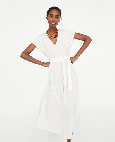 Vestido largo algodon zara