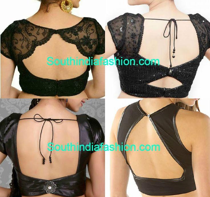 blouse back neck designs 2015                                                                                                                                                                                 More