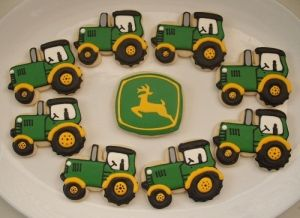 john deere cookies using our tractor with cab cookie cutter