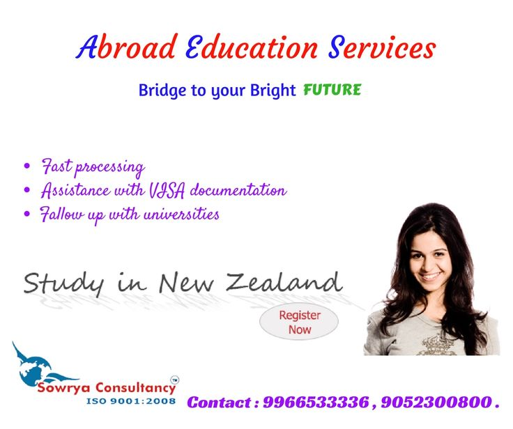 study in newzealand contact sowrya consultancy www.sowrya.com