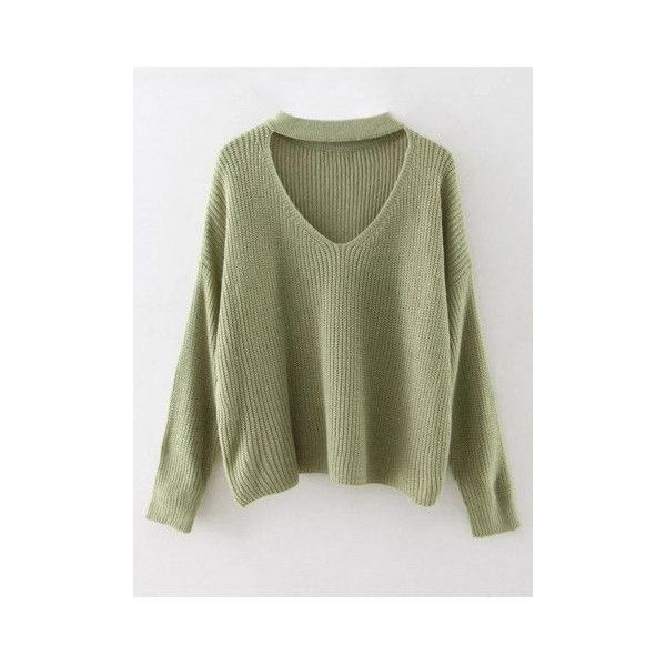 Sweaters & Cardigans For Women | Cheap Pullover & Knitwear Sale Online... ❤ liked on Polyvore featuring tops, sweater pullover, pullover top and green top