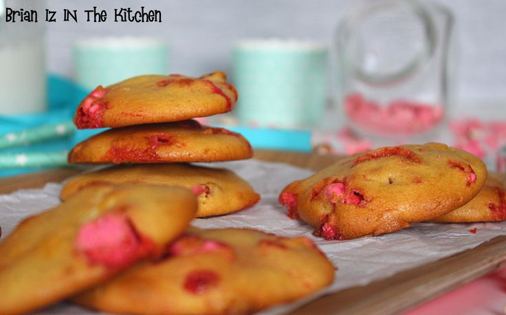 Cookies Chocolat Blanc & Pralines Roses