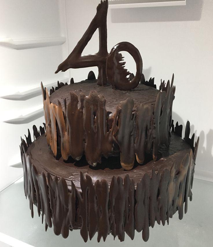 Chocolate Birthday Cake, cokoladovy dort