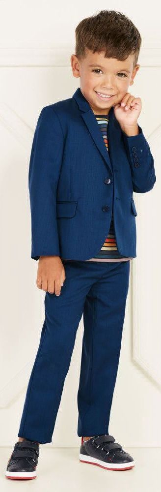 On SALE !!! PAUL SMITH JUNIOR Boys Wool 'Preston' Special Occasion Suit. Perfect Party Look for Boys that Can be Dressed up or Down. Looks Perfect with a Stylish Paul Smith Striped Shirt and Leather Blue Shoes.  Adorable Boys Mini Me Look Inspired by the Paul Smith Men's Collection.  #kidsfashion #suit #boy #sale #paulsmith #minime