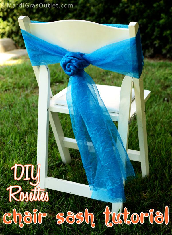 DIY Tutorial: how to tie your own beautiful chair bow rosettes with ribbon or fabric