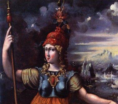 """Battista Dossi (? 1496 ca - Ferrara 1548) """"Minerva"""" (particolare), 1545 ca. olio su tela, cm 130 x 84 #PinacotecaCivica #AscoliPiceno #Marche #Italy"""