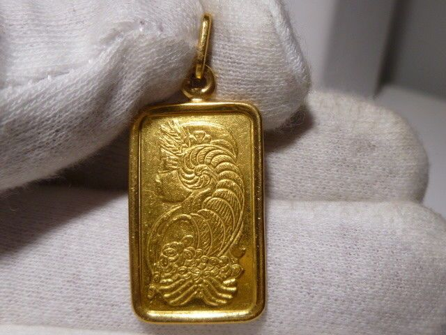 5 Gram Pamp Suisse Lady Fortuna Fine Gold 999 9 24k Bar In 14k Pendant Unbranded Pendant 14k Pendant Pendant Quality Jewelry