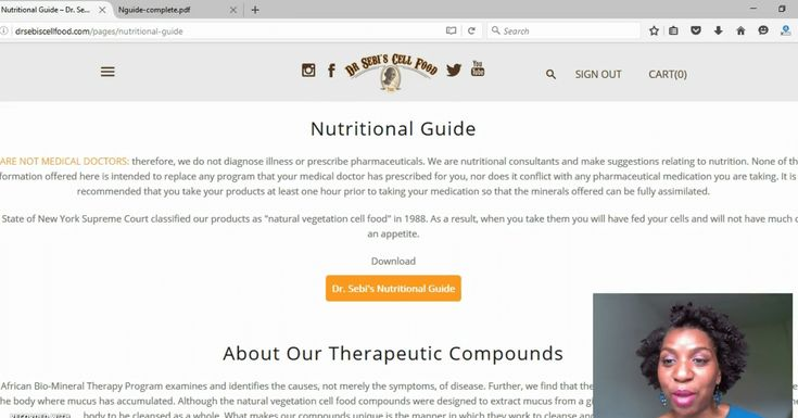 Dr. Sebi's New Website And Nutritional Guide