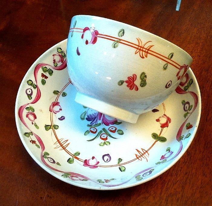 #18th #Century A.E. #Keeling #Tea #Bowl and #Saucer c.1790