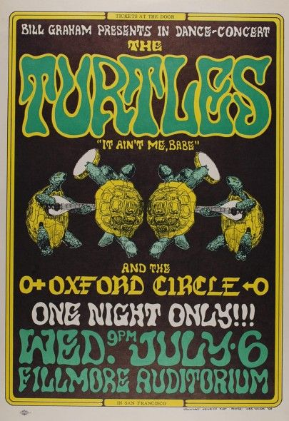 The Turtles at the Fillmore | Bill Graham No. 15 | Psychedelic Art Exchange