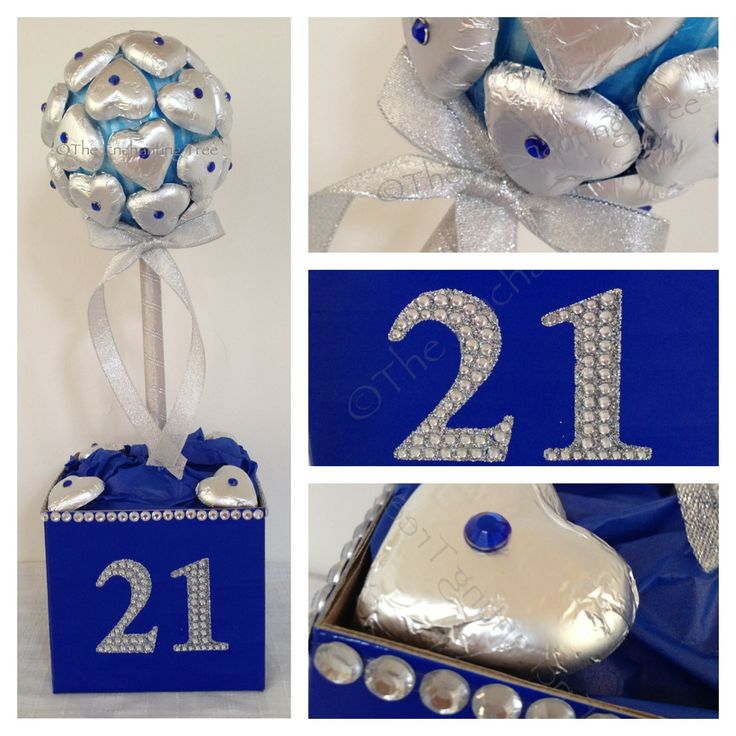 Custom order of 6 for centre pieces at a 21st birthday party.