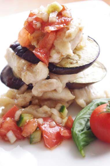 茄子とチキンのタワー!トマトソース添え☆ | 美肌レシピ
