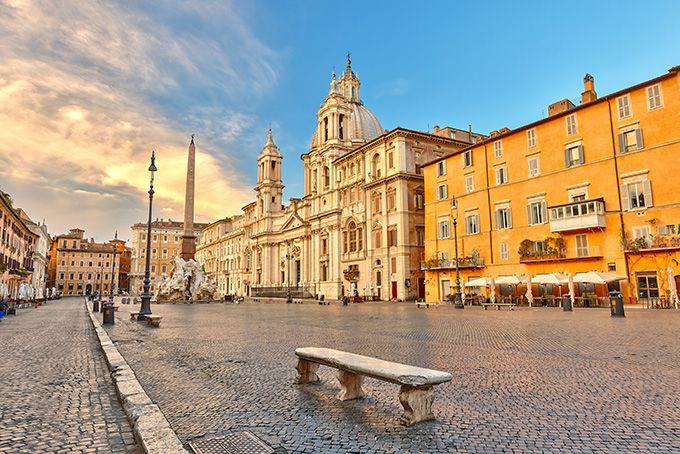 Площадь (пьяцца) Навона в Риме