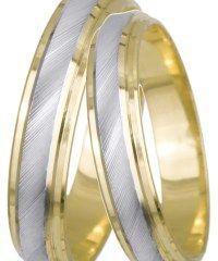 Δίχρωμες βέρες γάμου Κ14 022497 022497 Χρυσός 14 Καράτια