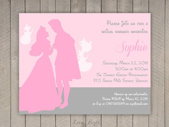 Bachelorette party / Bridal shower invitation Disney Sleeping Beauty - Digital file by SophiesLovebirds on Etsy #wedding #Disney #SleepingBeauty