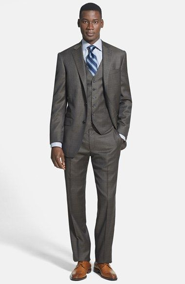 Hart Schaffner Marx 'New York' Classic Fit Three-Piece Suit available at #Nordstrom