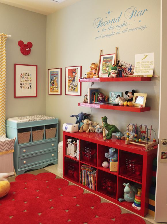 Colorful Disney-themed nursery...finally a disney room that doesnt look tacky!!!