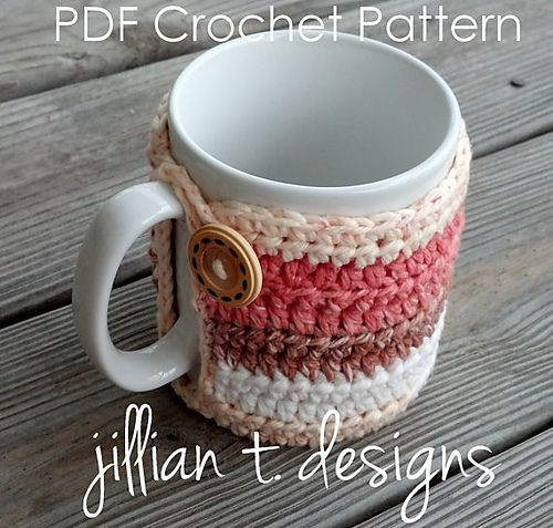 Crochet coffee cozy. I will buy the pattern if any of my friends want to make this for me. I really want it. I just can't crochet.