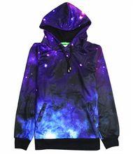 2016 New thick 3D galaxy hoodies women men beautiful space fleece hooded sweatshirt fall winter clothing hoody(China (Mainland))