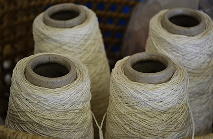 The cotton used by our futon makers. Our futons are handcrafted at our workshops in Sheffield. To find out more about our futons - take a look at our website: http://www.naturalbedcompany.co.uk/futon-mattresses.php