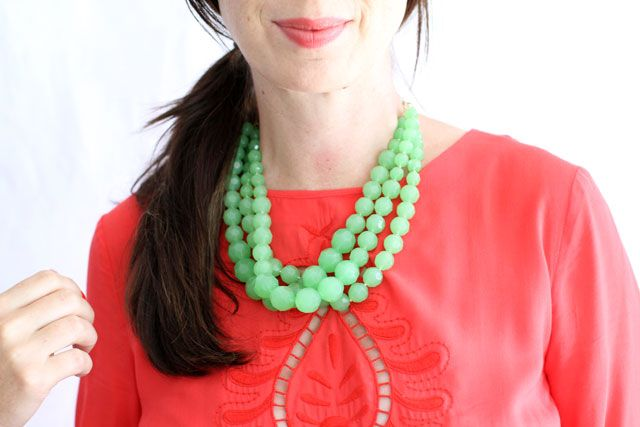 How to Make a Statement Necklace for Making It Lovely