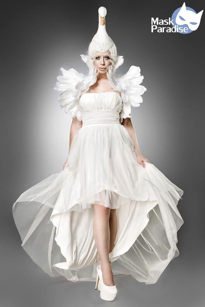 MASK PARADISE - Kostüm  White Swan , Weißer Schwan - Komplettset