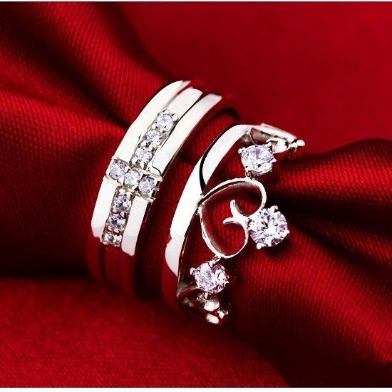 Find More Rings Information about 60% off Wholesale Love Silver 925 Crown Cross Crystal Engagement Wedding Rings for Women and Men Jewelry Finger Ring Ulove J412,High Quality ring,China ring love Suppliers, Cheap ring paypal from ULOVE Fashion Jewelry on Aliexpress.com
