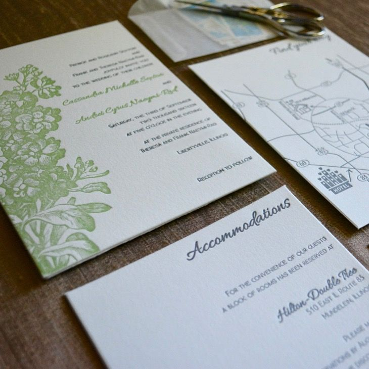 wedding renewal invitation ideas%0A Custom designed letterpress wedding invitation suite with bold floral  design  by Lucky Invitations